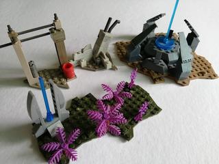 Tres Mini Escenarios Halo Mega Construx