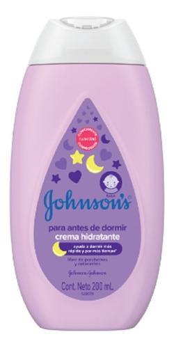 Johnsons Baby Crema Hidratante Para Antes De Dormir 200 Ml