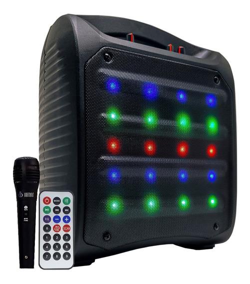 Caixa De Som Amplificada Portátil Bateria Bluetooth Usb 500