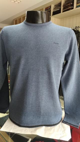 Blusa De La Sueter Docthos P/ M/ G Azul Indigo 14120