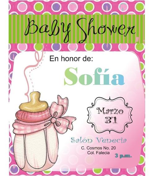 Invitación Imprimible Baby Shower Niña Editable