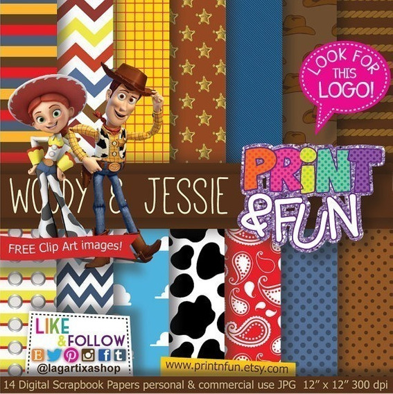 Kit Imprimible Toy Story #1 Png Fondos Clipart
