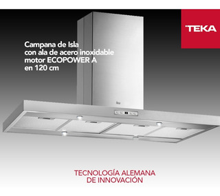 Campana Teka Dh2 Isla 1285 Inox 120cm 1200m3/h