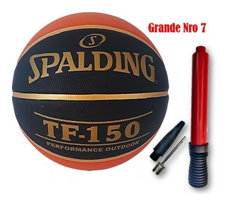 Pelota De Basquet Nba Tf 150 Perform Black Spalding N7 N5