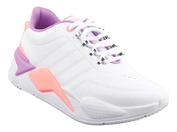 Tenis Fashion Feminino Chunky Sneaker Branco Estilo Buffalo