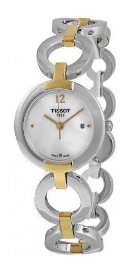 Relógio Tissot Feminino T-trend Madre Pérola Bracelete 2tons