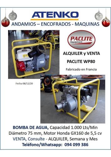 Moto Bomba / Bomba De Agua, Para Agua Sucia, Marca Paclite