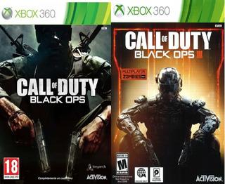 Juegos Xbox 360, Xbox One Saga Call Of Duty Black Ops 1,3