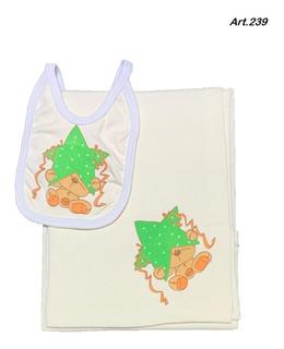 Mantilla Recibidor Con Babero Para Bebes Gaudi