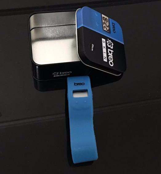Relogio Esportivo Breo Skin Original Azul Silicone Digital