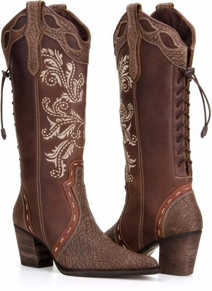 Bota Country Feminina Texana Rodeio Qualidade Capelli Boots