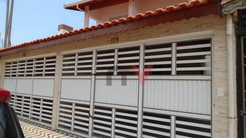 Sobrado Com 3 Dormitórios À Venda, 106 M² Por R$ 440.000 - Caiçara - Praia Grande/sp - So0090
