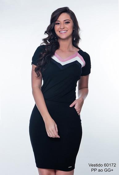 Vestido Modinha Hapuk Girl - Preto Moda Evangélica