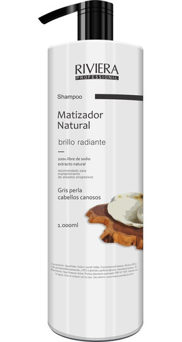 Shampoo Riviera 1 Lt. Gris Perla