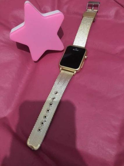 Relógio Digital Dourado! Nunca Usado , Super Leve.