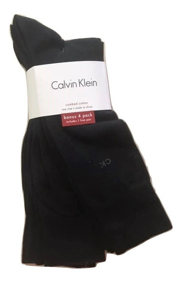 4 Pares Calcetines De Vestir Calvin Klein Negros 4 Pack Envio Gratis