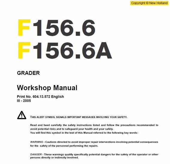 Manual De Serviço - New Holland - F156.6 - F156.6a