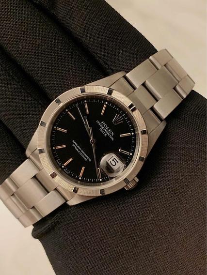 Rolex Date 34mm , Mostrador Preto , Impecável , Extra !