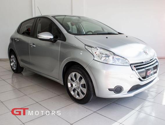 Peugeot 208 1.5 Active 8v 2014 Prata Flex