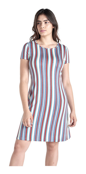Vestido Corto Rayas De Mujer C&a 1055079