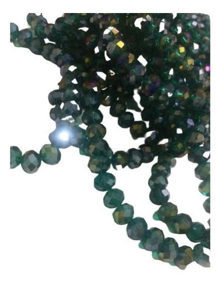 20 Pulseiras Cristal Swarovski 8mm Verde Esmeralda Boreal