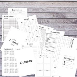Kit Imprimible Agenda Docente 2020 - Pdf Editable