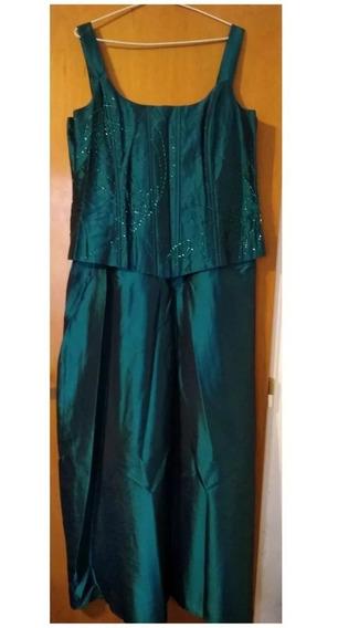 Vestido Fiesta/ Noche Largo Madrina 15 Años Casamiento Verde