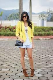 Blazer Amarelo H & M Forrado