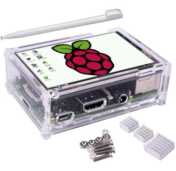 Raspberry Pi 3 + Pantalla Tactil Fuente 32gb Gabinete Disipa
