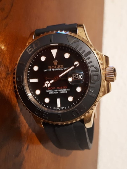 Relógio Rolex Eta Valjoux 2824-2 Yacht Master 1 Gold Ouro