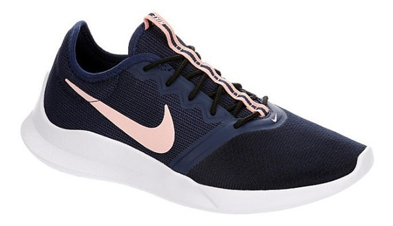 Tenis Nike Mod. 741066 Vtr Azul Marino Para Mujer / H