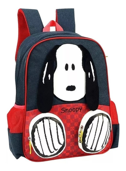 Mochila Escolar Infantil Snoopy Unissex Luxcel - Original