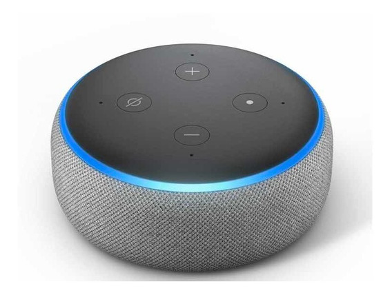 Smart Speaker Amazon Alexa Echo Dot 3 Cinza/preto Pt Sem Uso