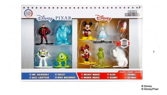 Kit Com 10 Miniaturas Nano Metalfigs Da Disney * Serie 1