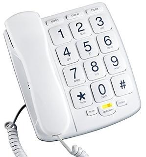 Teléfono Fijo Con Cable De Emerson, Con Manos Libres, Blanc