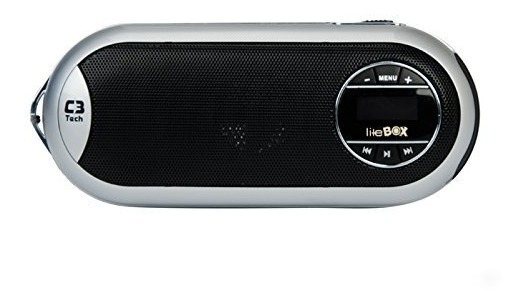 Caixa De Som Mp3 Radio Fm Gravador Voz C/ Bateria Cartão Sd