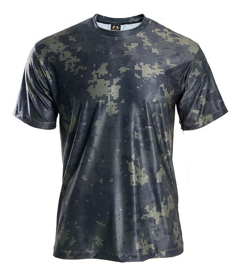 Camiseta Masculina Camuflado Estampada Academia Caminhada
