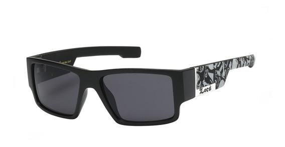 Óculos Locs 91085 Skull Matte Cholo Lowrider Old School 100% Original Pronta Entrega