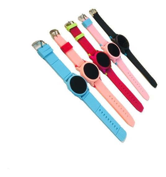 Kit 10 Relógio Feminino Digital Touch Silicone Atacado Reven