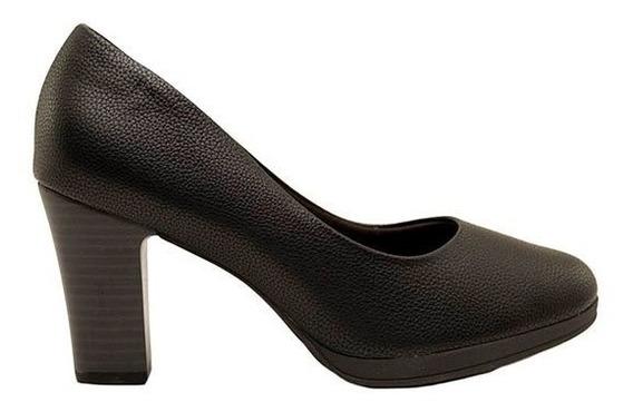 Zapatos Clásicos Mujer Piccadilly Cuero Ecológico Negro Graneado