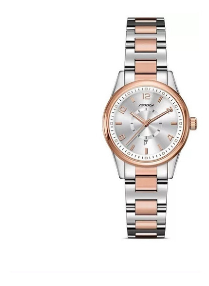 Relógio De Luxo Feminino Com Data,3 Bar Sinobi, Frete Grátis