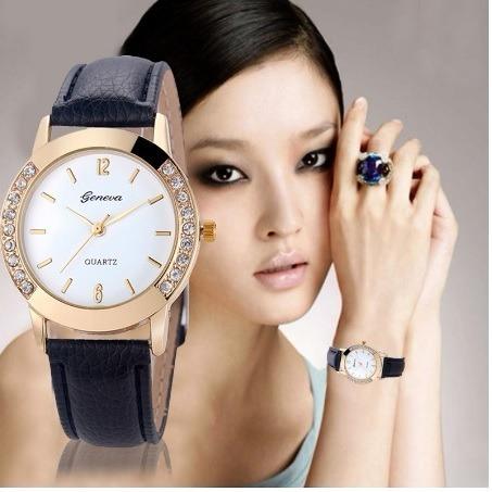 Relógios Feminino Geneva De Luxo Quartzo Com Caixa
