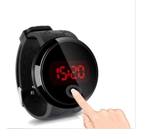 Relógio Masculino De Pulso Silicone Digital Led Touch Screen