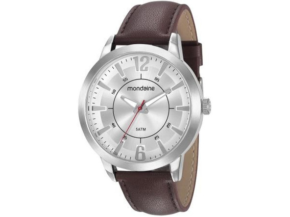 Relógio Luxuoso Mondaine Pulseira De Couro