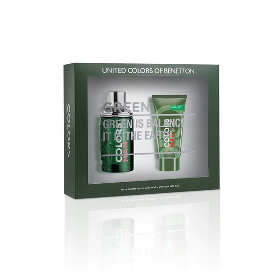Kit Benetton Colors Man Green Edt 100ml + After Shave 75ml