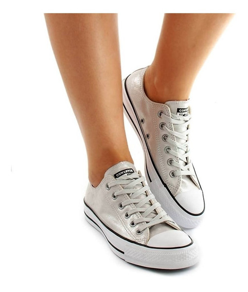 Zapatillas Converse Chuck Taylor Gris Plateado