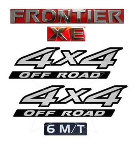 Emblemas Frontier Xe + Laterais 4x4 + 6m/t - Modelo Original