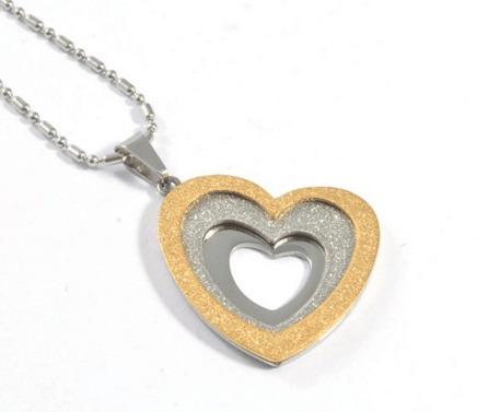 Collar Con Dije De Corazón Oro 18k 14 Febrero San Valentín