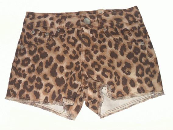 Short Justice Jeans Niña Talla 7 Años Animal Print Leopardo