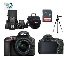 Nikon D5600 Com 18-55mm Vrii + Bolsa+ Tripé + 64gb Classe 10